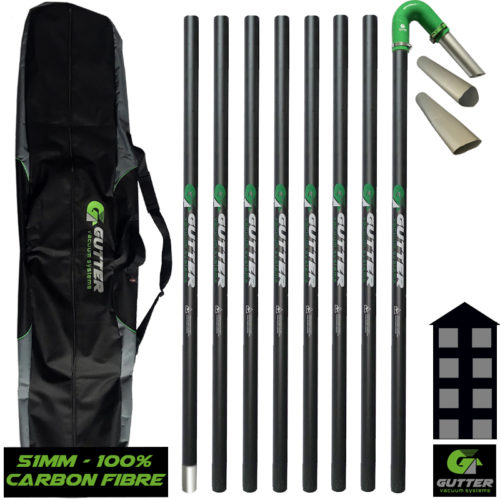 100% Carbon Fibre Pole Kit 51mm