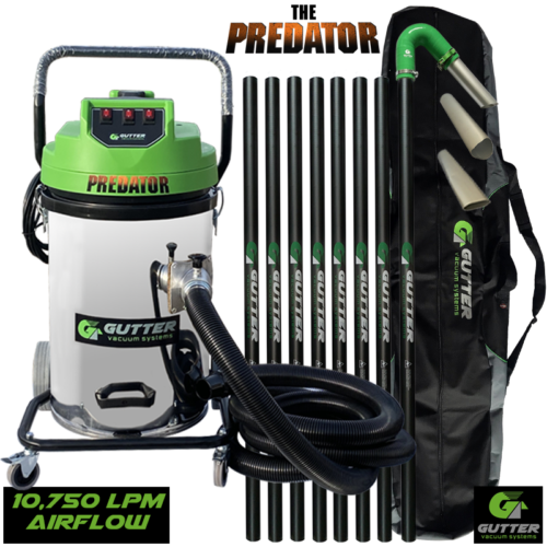 Gutter vacuum machine with 40ft carbon fibre pole kit